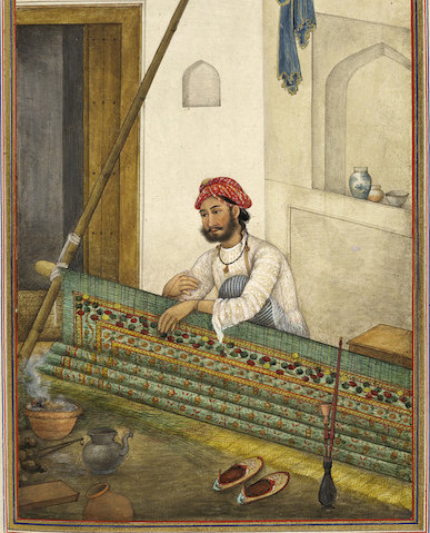British Library Flickr stream. A screen-maker, possibly of the Dumna caste. Tashrih al-aqvam, an account of origins and occupations of some of the sects, castes and tribes of India https://www.flickr.com/photos/britishlibrary/12459538774/